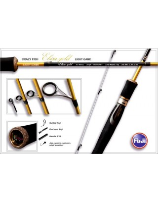 Fishing rod Ebisu II Gold SG662SUL Light game new style (0.6-5g 198cm 0.2-0.6 PE 85g)
